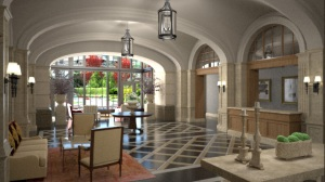 Artist Rendering of the Grand Lobby - Lincoln Park 2520